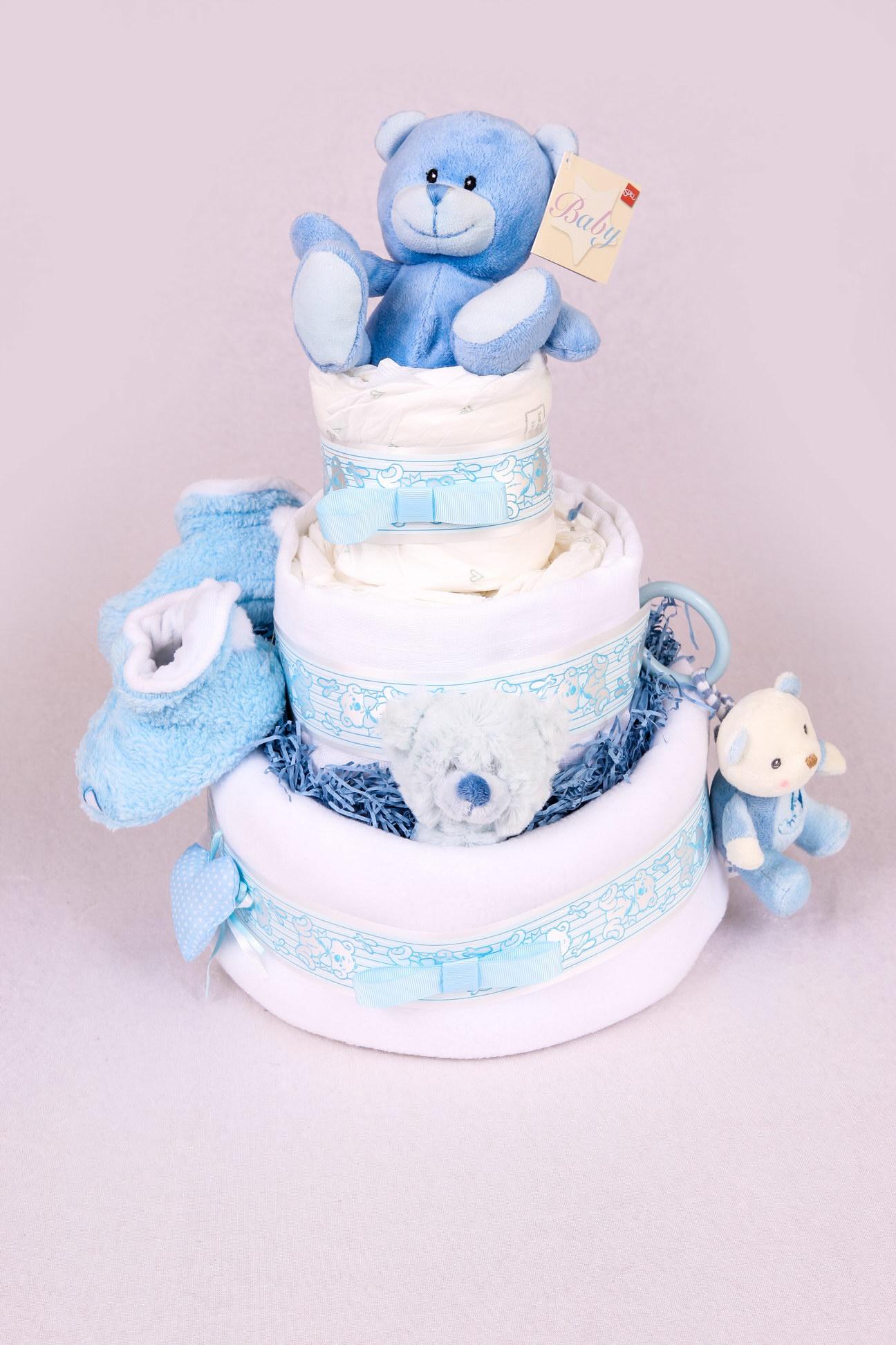 SUKI BLUE BEAR NAPPY CAKE