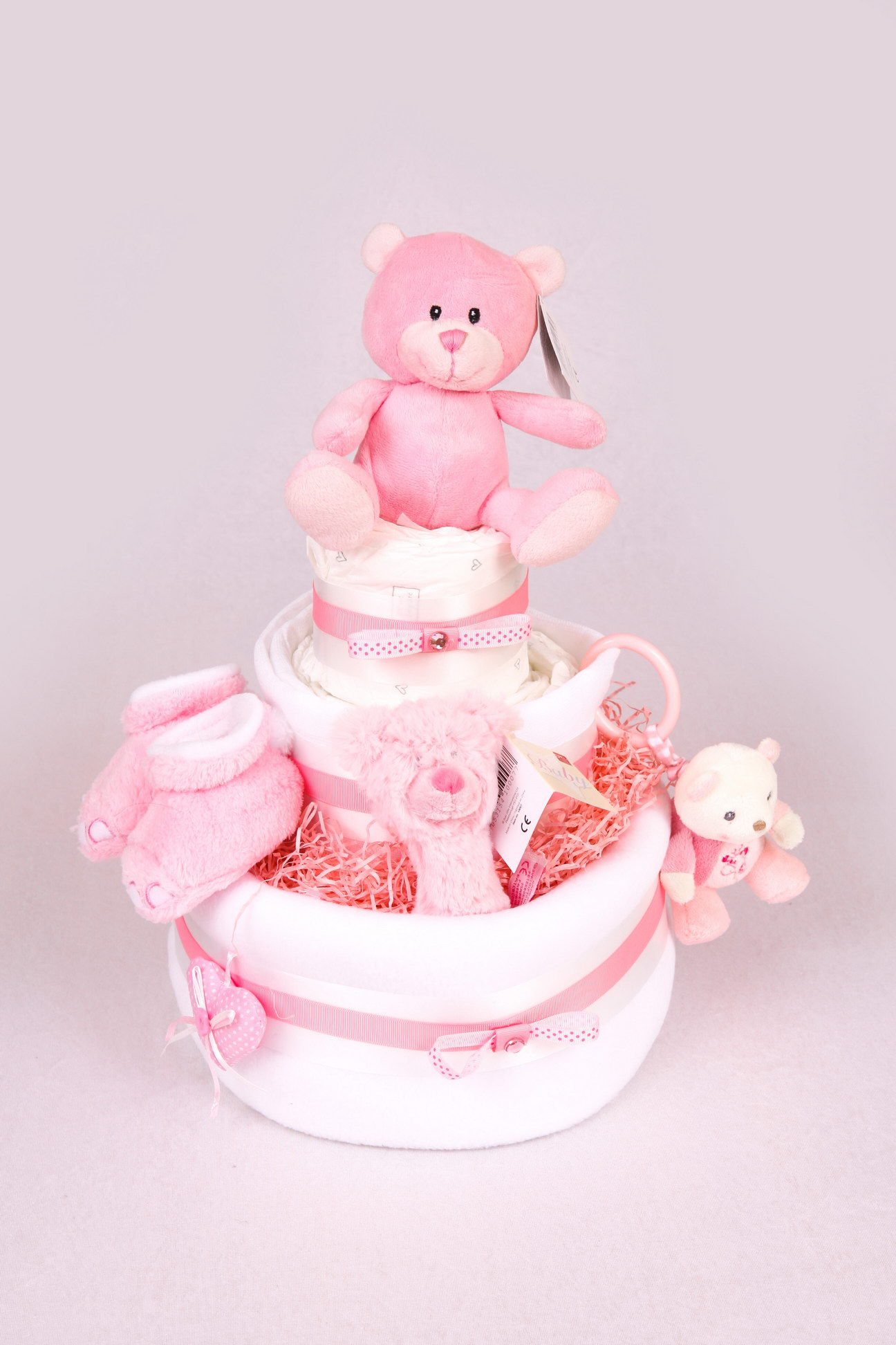SUKI PINK BEAR NAPPY CAKE