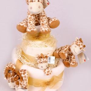 GORGEOUS GIRAFFE NAPPY CAKE