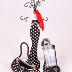 BLACK AND RED SPOT JEWELLERY TIDY GIFT SET