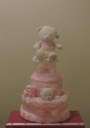 Pink Polka Dot Nappy cake