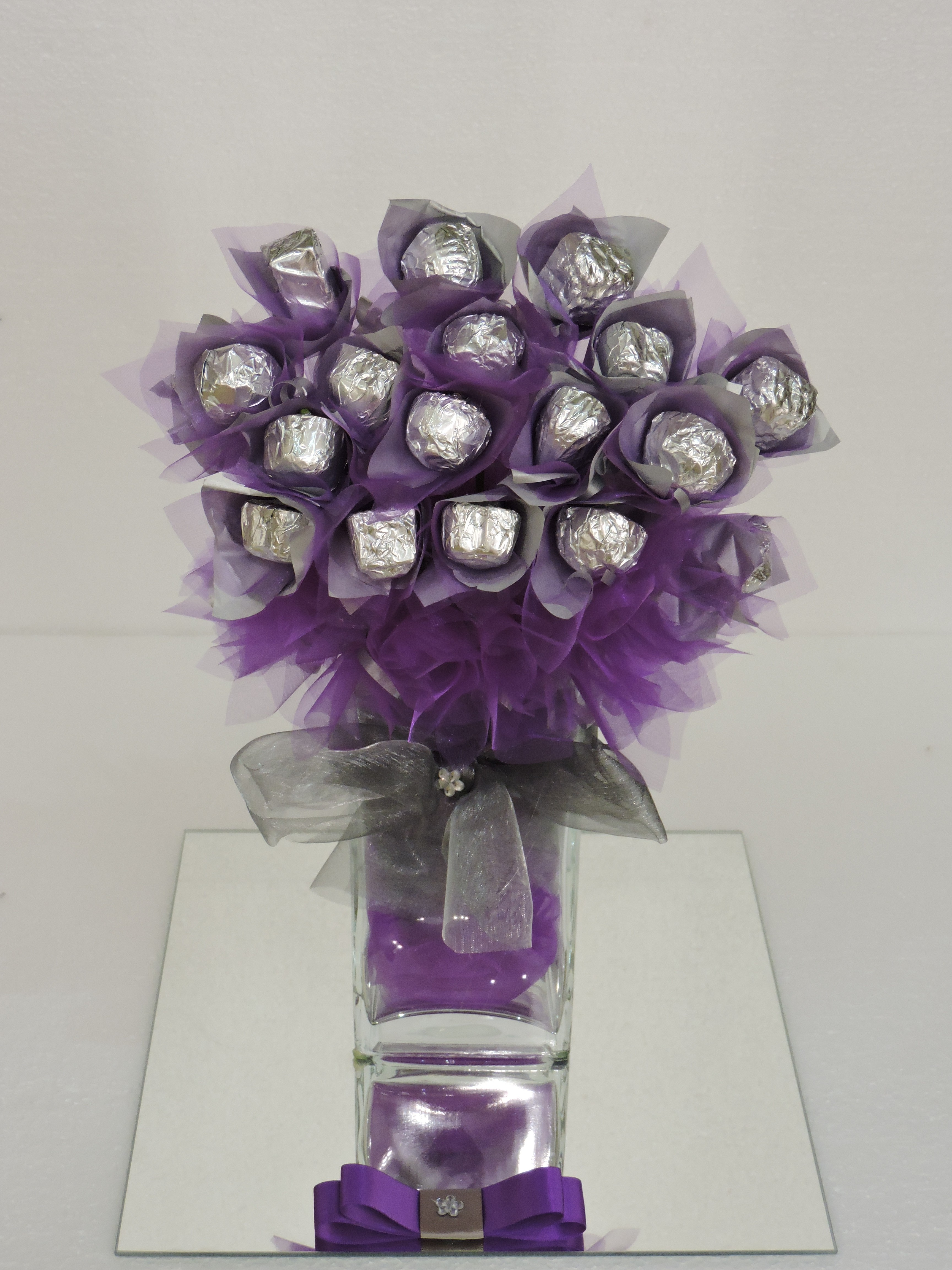 Purple And Silver Bouquet