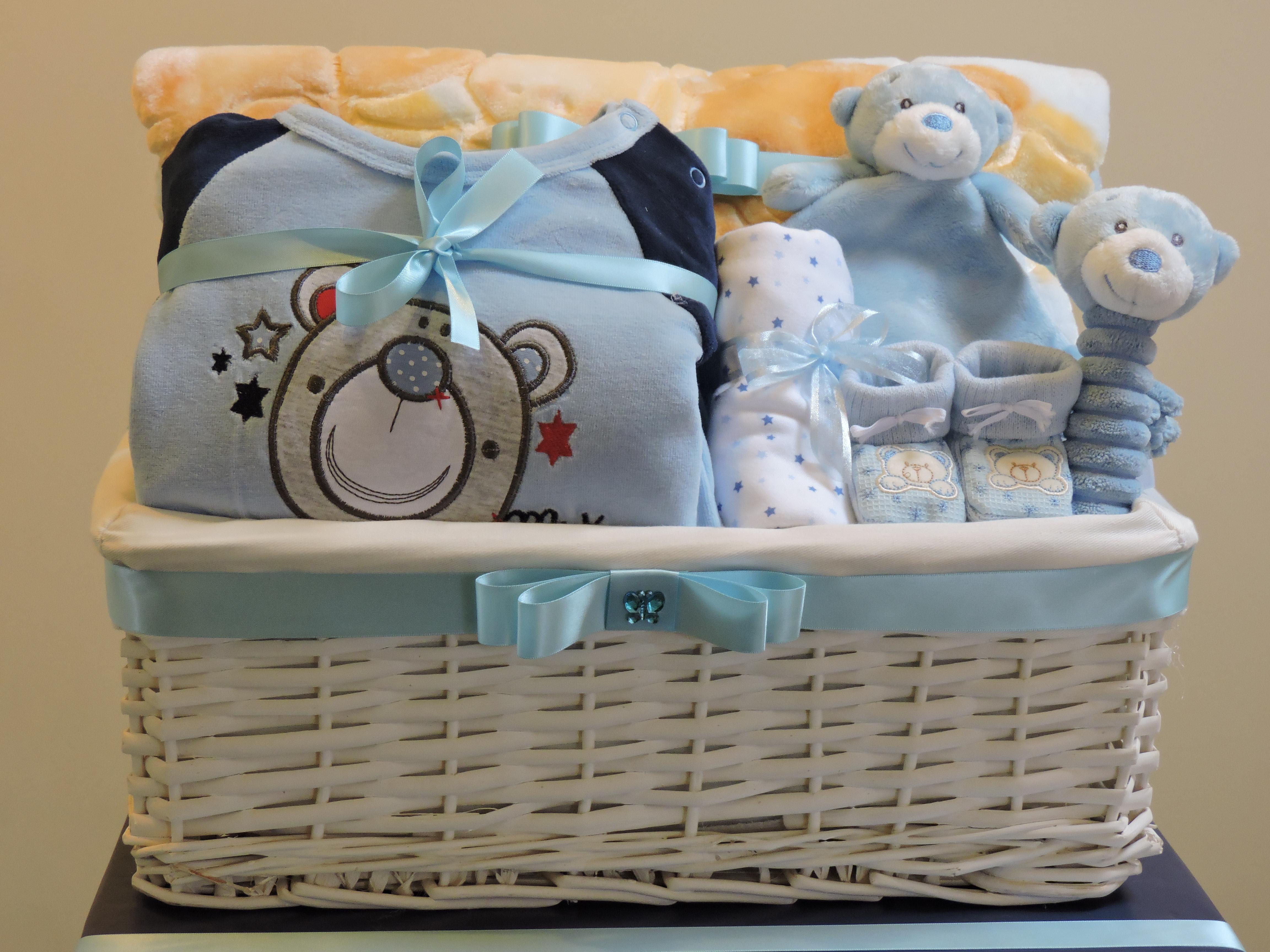 Plush Baby Basket