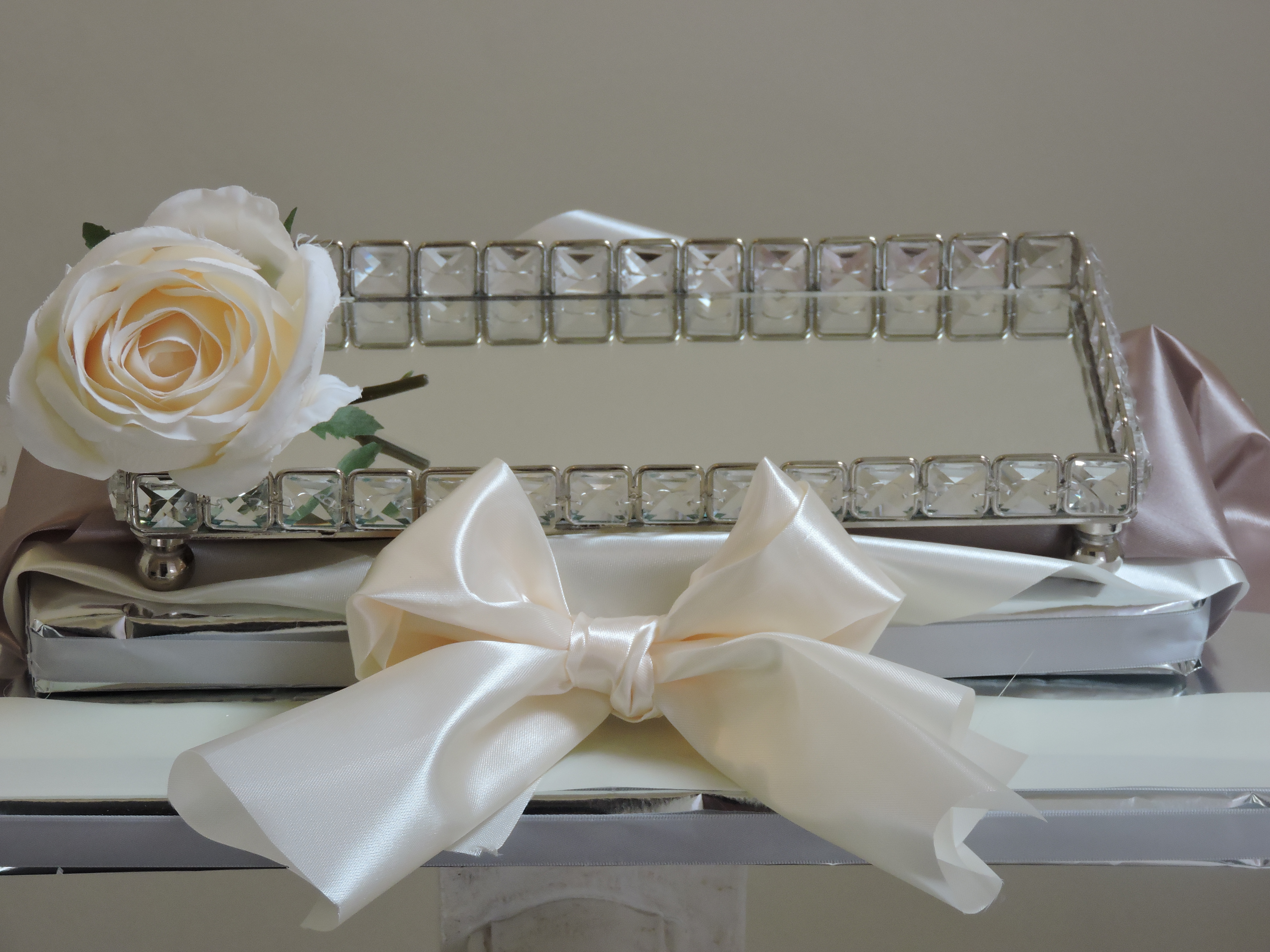 Mirror & Crystal Tray Gift