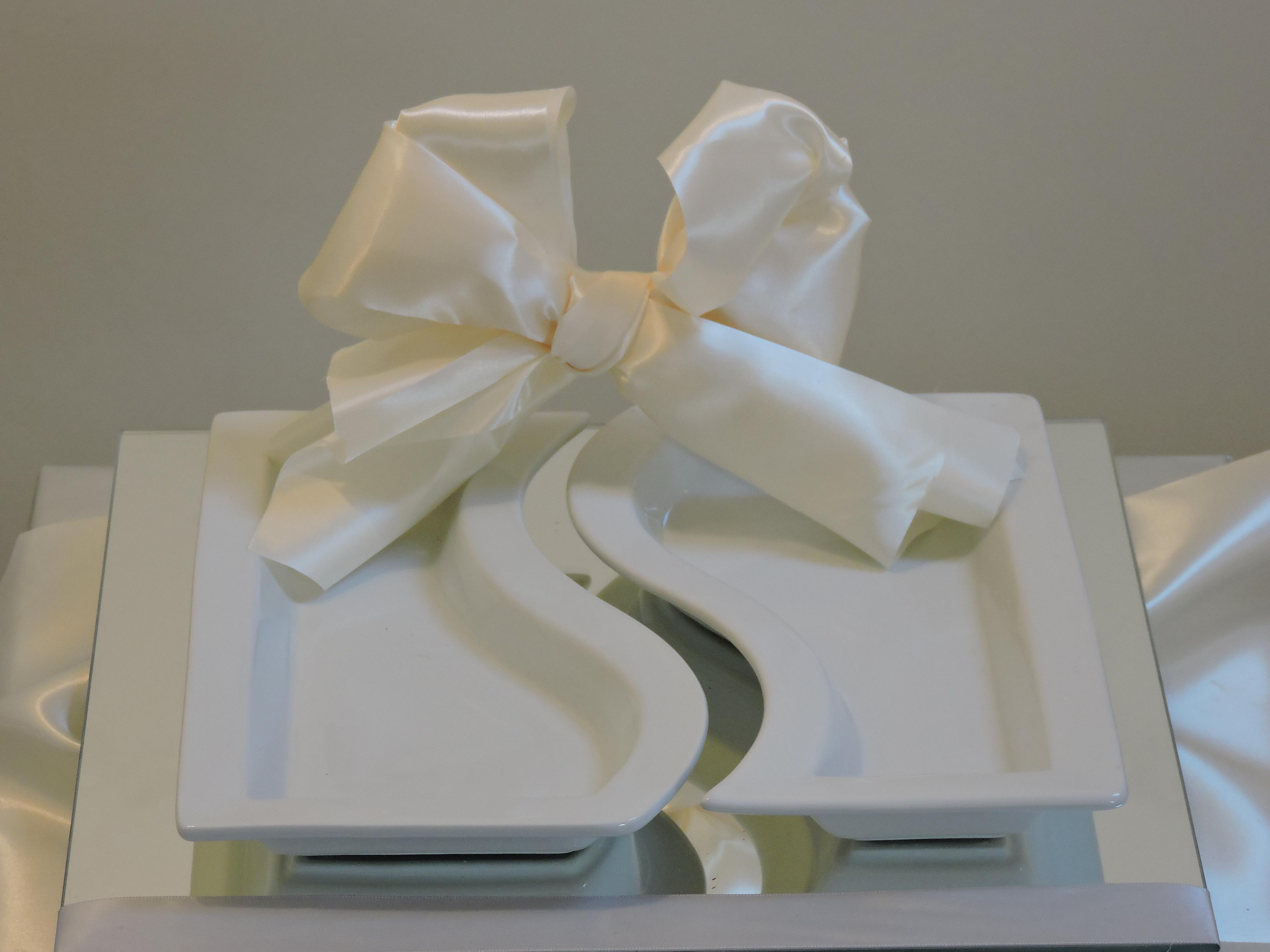White Dish Gift
