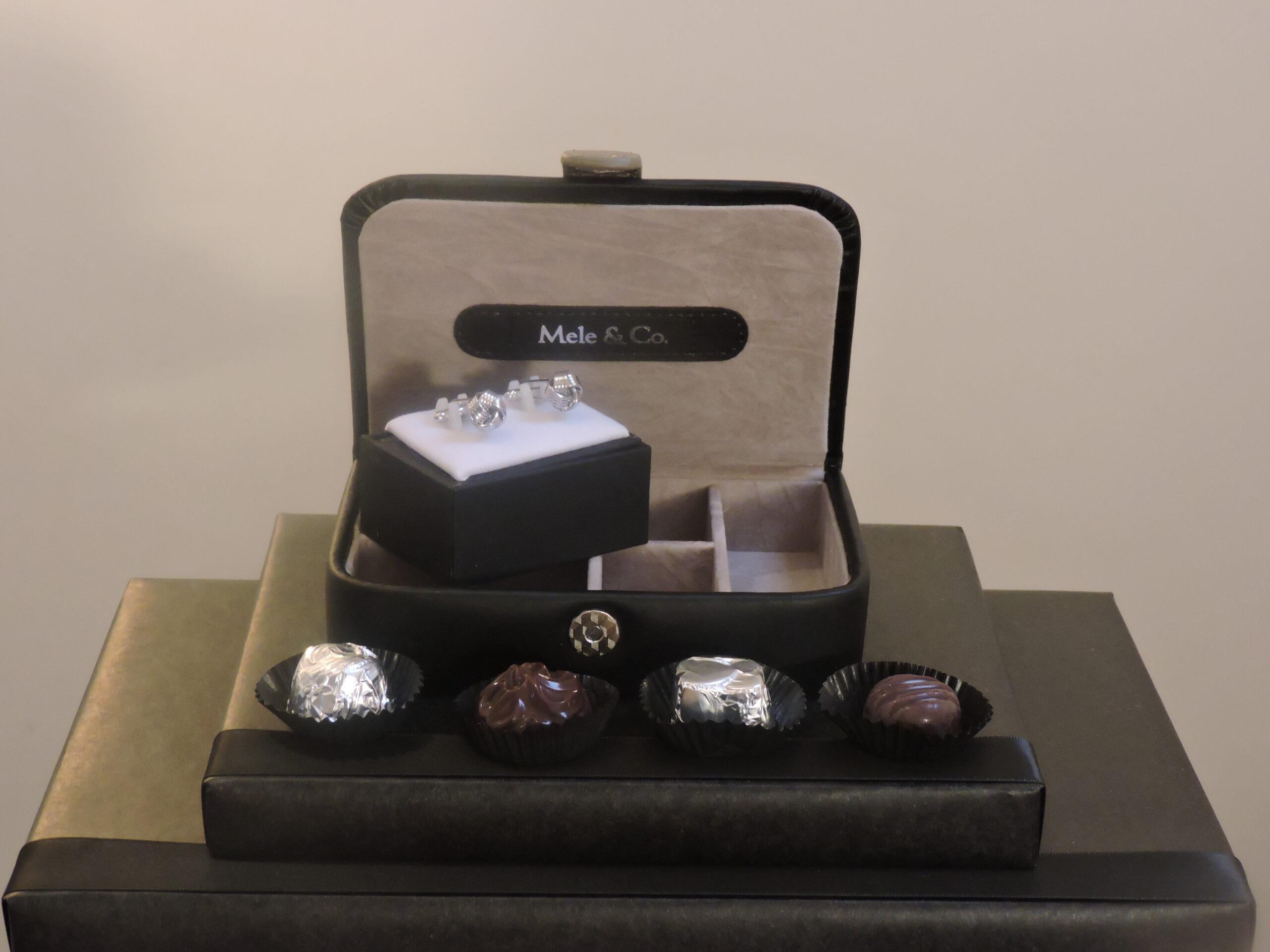 Cufflink & Chocolate Gift