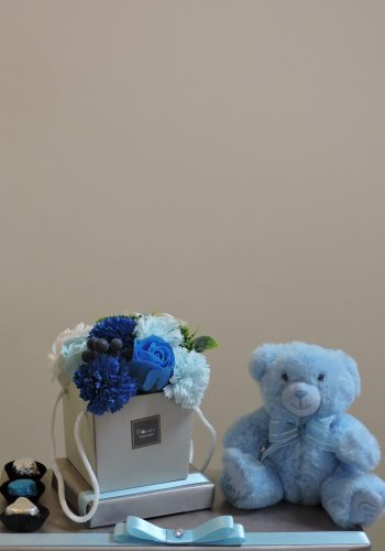 Blue Soap & Bear Gift