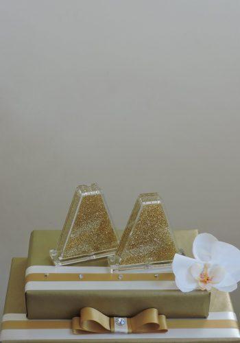 Gold Glitter Salt Set