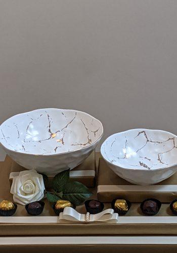 Gold & White Dish Gift